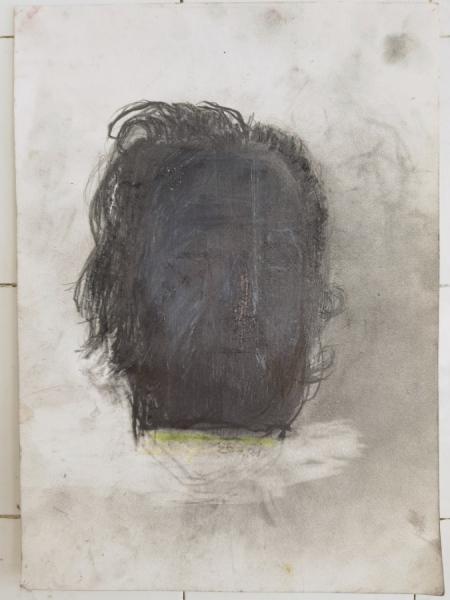 Klaus Winichner, o.T. (25.1.2021), 2021, Graphitpulver, Buntstift auf Arches Baumwollpapier 35,8 x 25,6 cm, Galerie Sandra Bürgel, Berlin