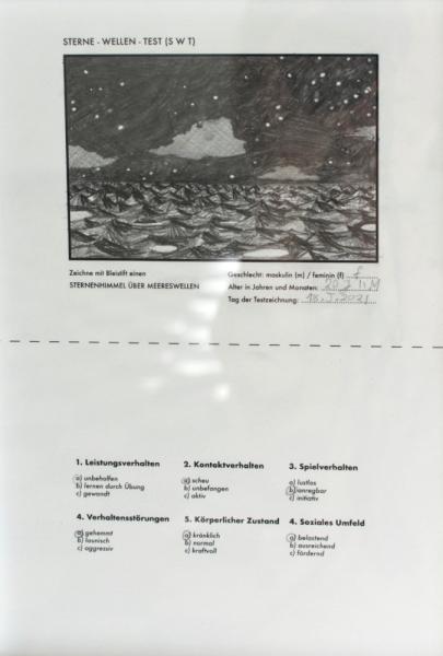 "Alanna Dongowski ""SWT 17 (1852021)"" 2021 pencil on print. Passive Aggressive, Galerie Sandra Bürgel, Berlin 2021"
