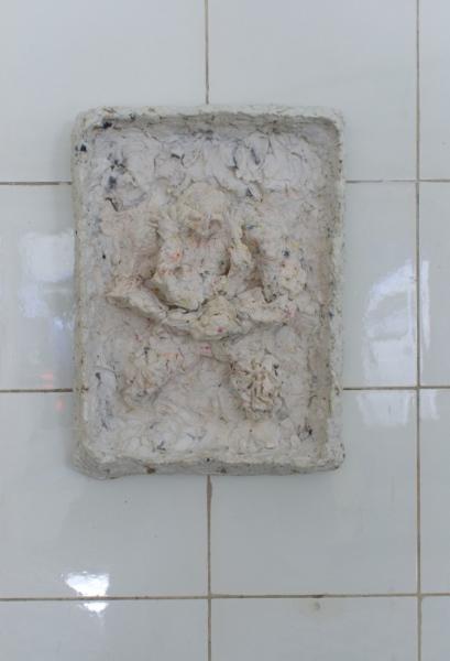 "Raras Umaratih ""Oppressor in Self"" 2021 paper mache wood 25 x 18 x 7 cm. Passive Aggressive, Galerie Sandra Bürgel, Berlin 2021"