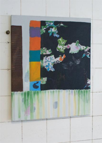 "Leyla Kampeter ""Hypnopombe"" 2020 acrylic, gouache on canvas, 60 x 49,5 cm. Passive Aggressive, Galerie Sandra Bürgel, Berlin 2021"