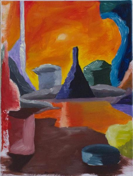 "Felix Mehlig ""Venus"" 2021 acrylic on canvas 40 x 30 cm. Passive Aggressive, Galerie Sandra Bürgel, Berlin 2021"