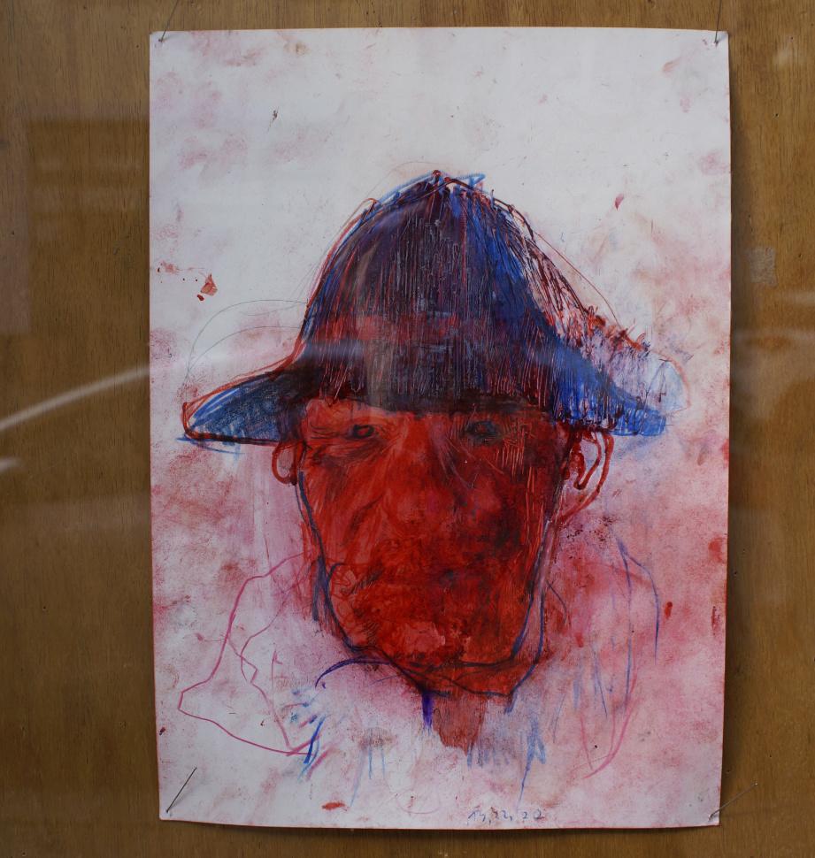 Porträt Klaus Winichner Lockdown Obdachlos Pigment